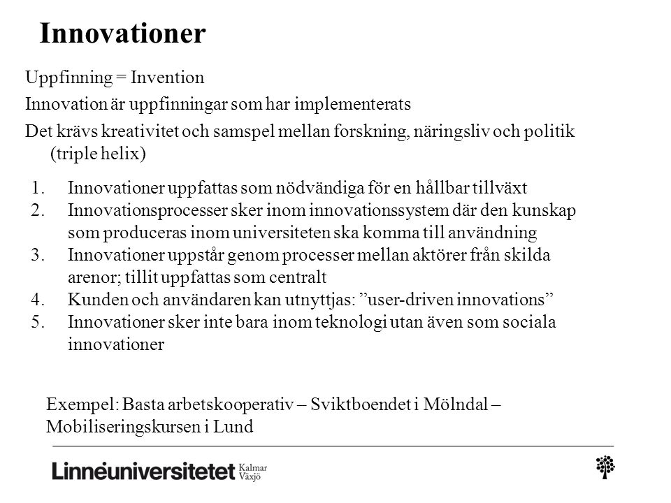Innovationer
