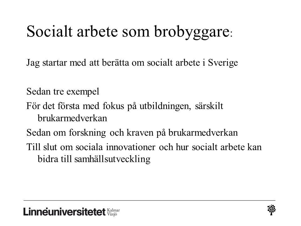 Socialt arbete som brobyggare: