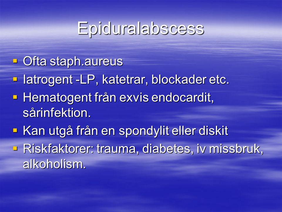 Epiduralabscess Ofta staph.aureus