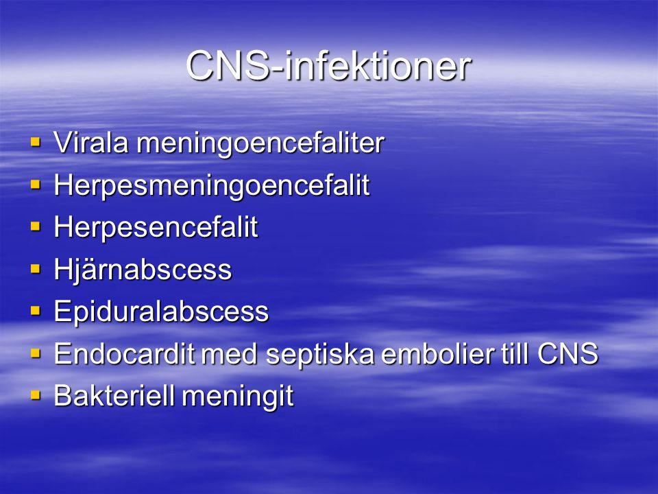 CNS-infektioner Virala meningoencefaliter Herpesmeningoencefalit