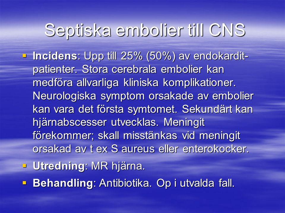 Septiska embolier till CNS