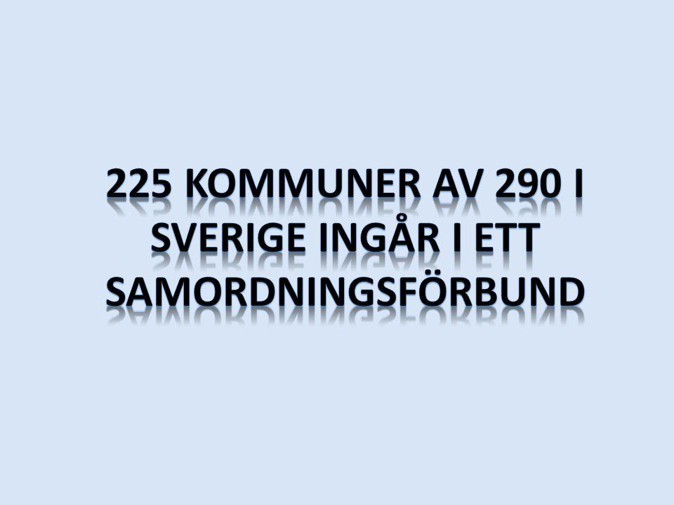 225 kommuner av 290 i Sverige ingår i ett samordningsförbund