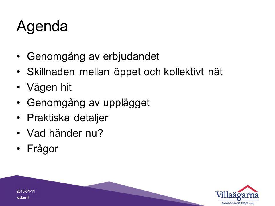 Agenda Genomgång av erbjudandet