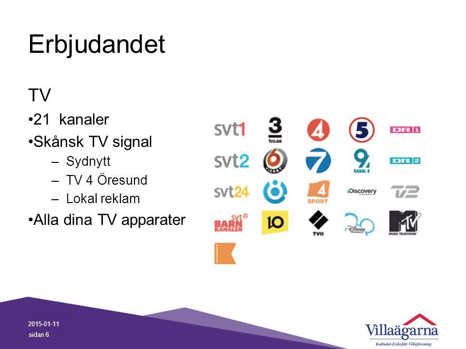 Erbjudandet TV 21 kanaler Skånsk TV signal Alla dina TV apparater