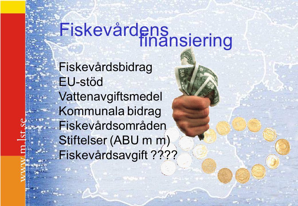 Fiskevårdens finansiering Fiskevårdsbidrag EU-stöd Vattenavgiftsmedel