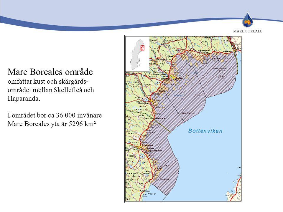 Mare Boreales område omfattar kust och skärgårds-