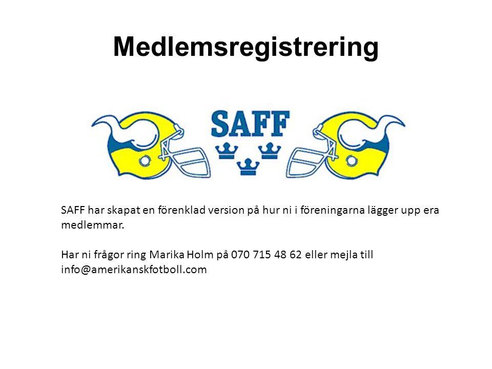 Medlemsregistrering SAFF har skapat en förenklad version på hur ni i föreningarna lägger upp era medlemmar.