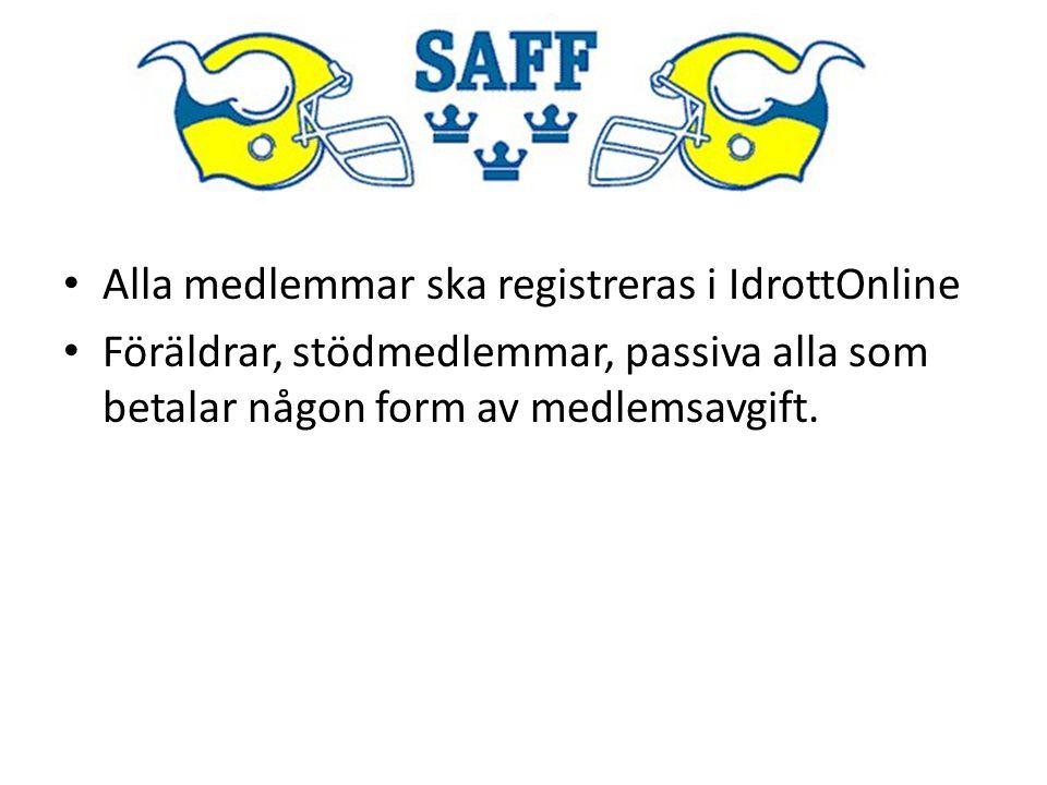 Alla medlemmar ska registreras i IdrottOnline