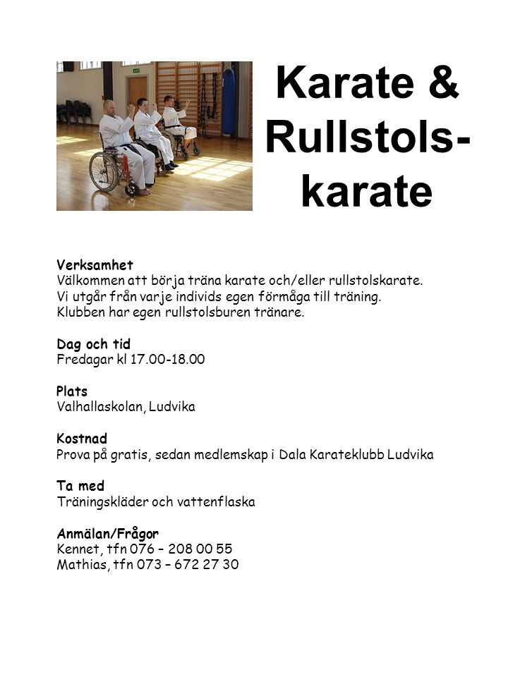 Karate & Rullstols- karate