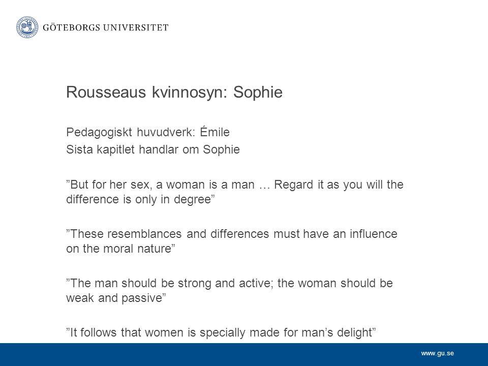 Rousseaus kvinnosyn: Sophie