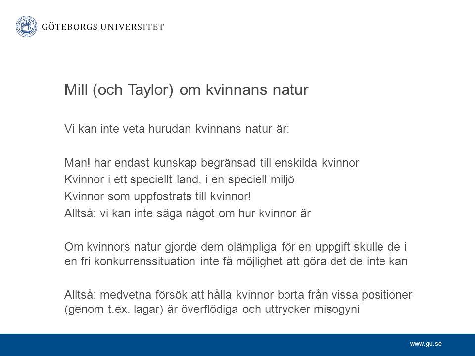 Mill (och Taylor) om kvinnans natur