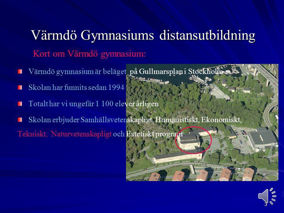 Värmdö Gymnasiums distansutbildning