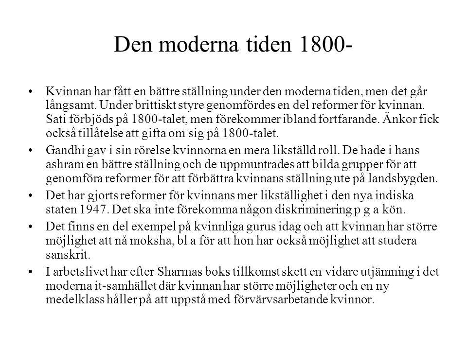 Den moderna tiden 1800-