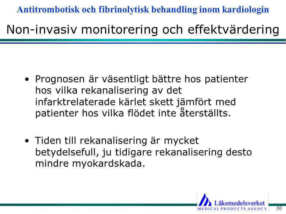 Non-invasiv monitorering och effektvärdering