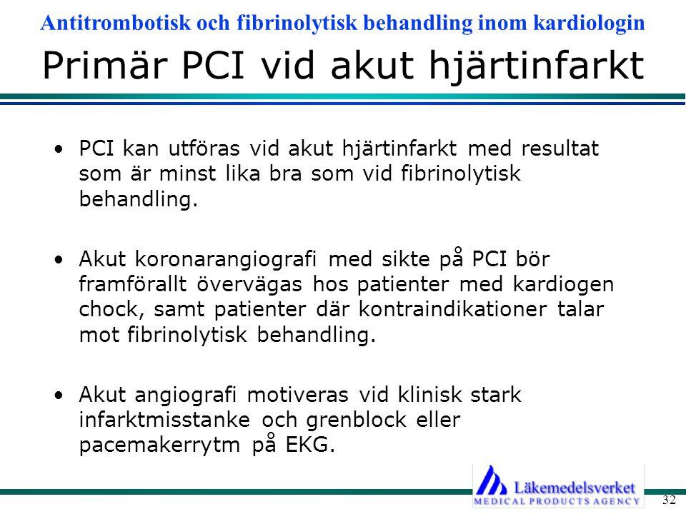 Primär PCI vid akut hjärtinfarkt