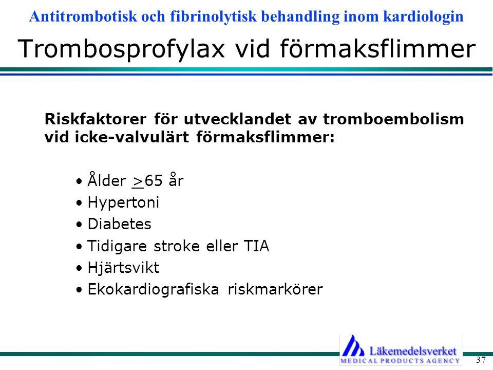 Trombosprofylax vid förmaksflimmer