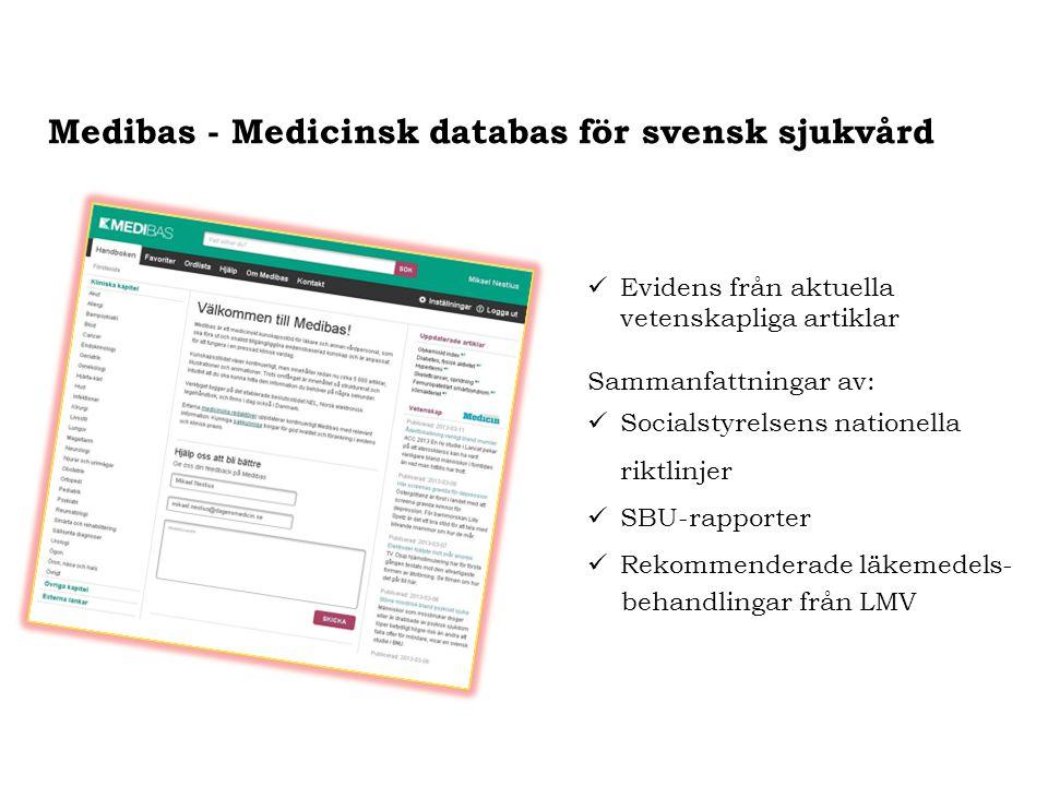 Medibas - Medicinsk databas för svensk sjukvård
