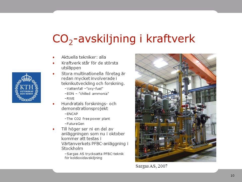 CO2-avskiljning i kraftverk