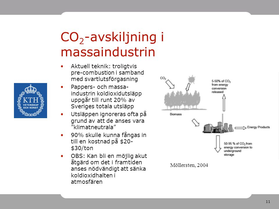 CO2-avskiljning i massaindustrin