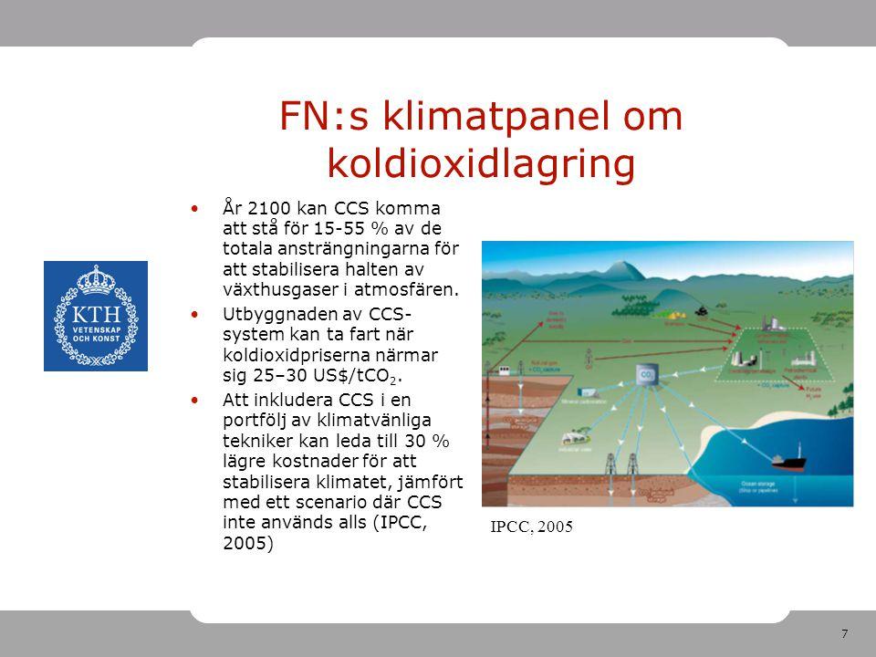 FN:s klimatpanel om koldioxidlagring