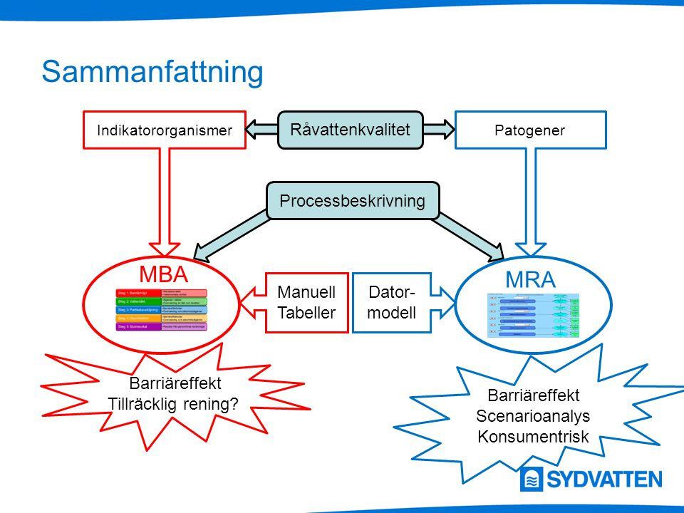 Sammanfattning MBA MRA Råvattenkvalitet Processbeskrivning Manuell
