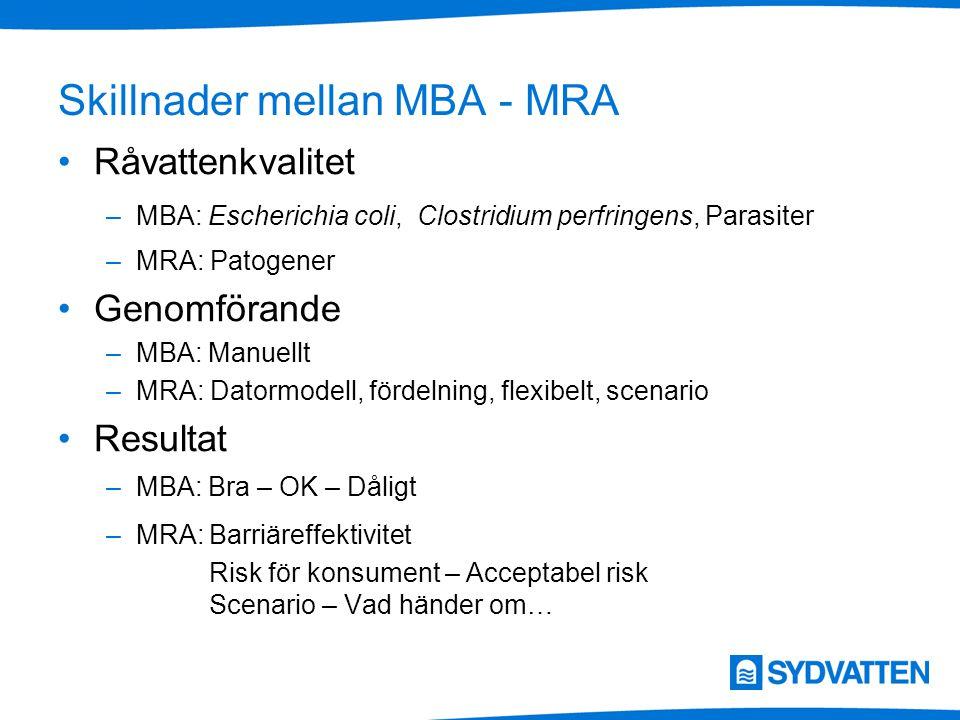 Skillnader mellan MBA - MRA