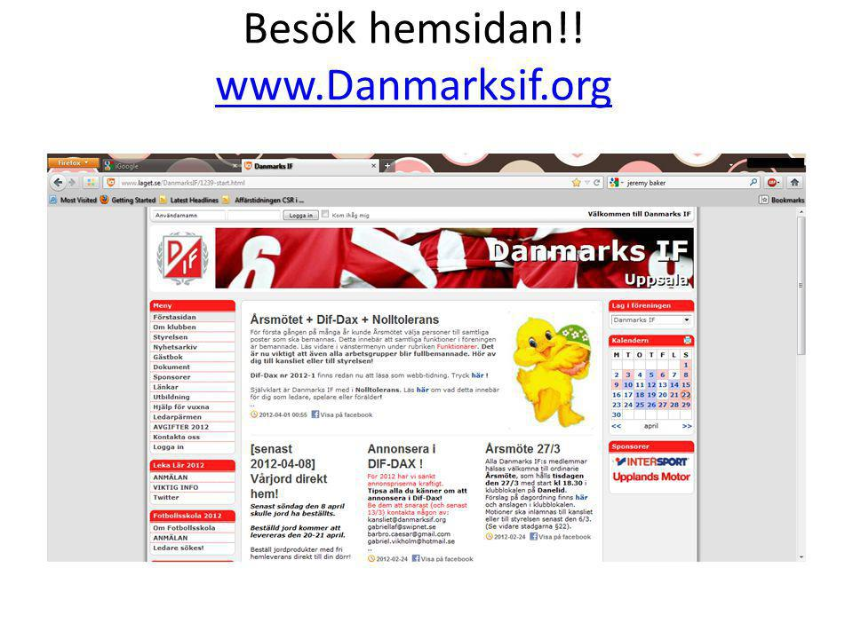 Besök hemsidan!! www.Danmarksif.org