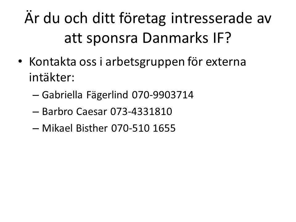 Är du och ditt företag intresserade av att sponsra Danmarks IF