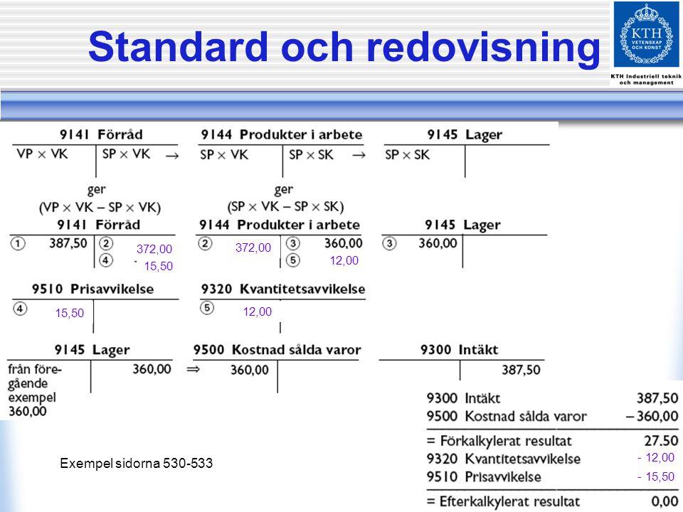 Standard och redovisning