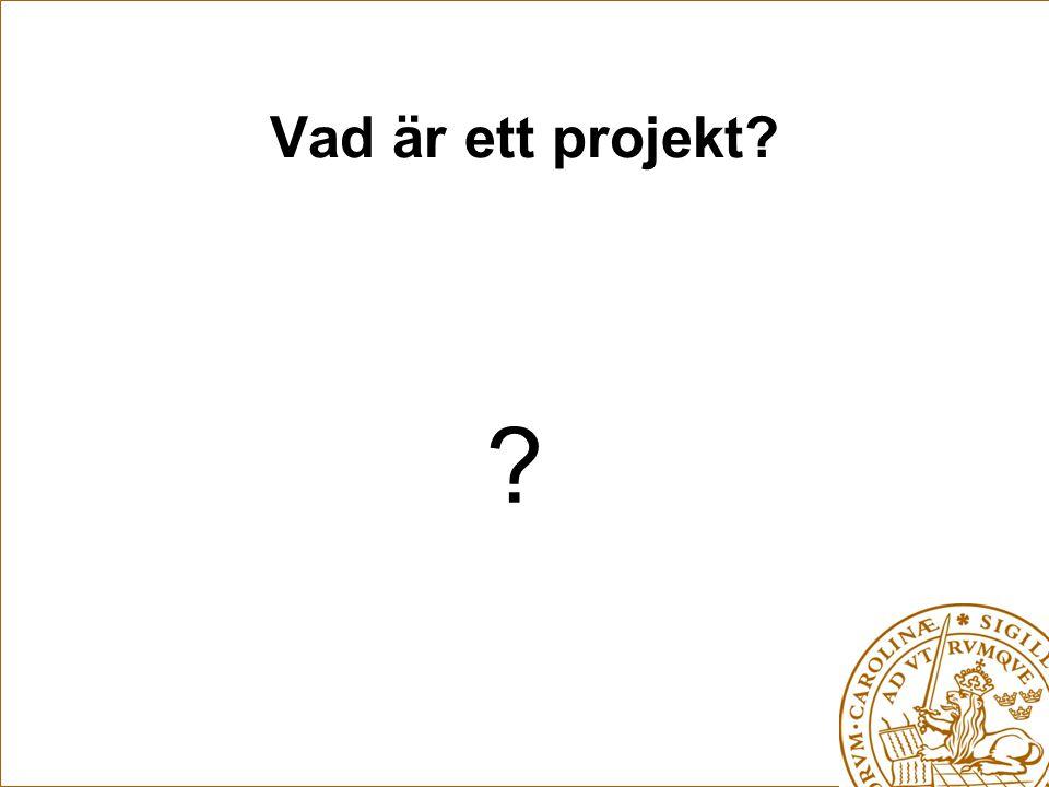 Vad är ett projekt