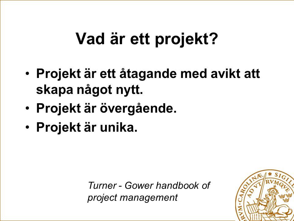 Vad är ett projekt Projekt är ett åtagande med avikt att skapa något nytt. Projekt är övergående.