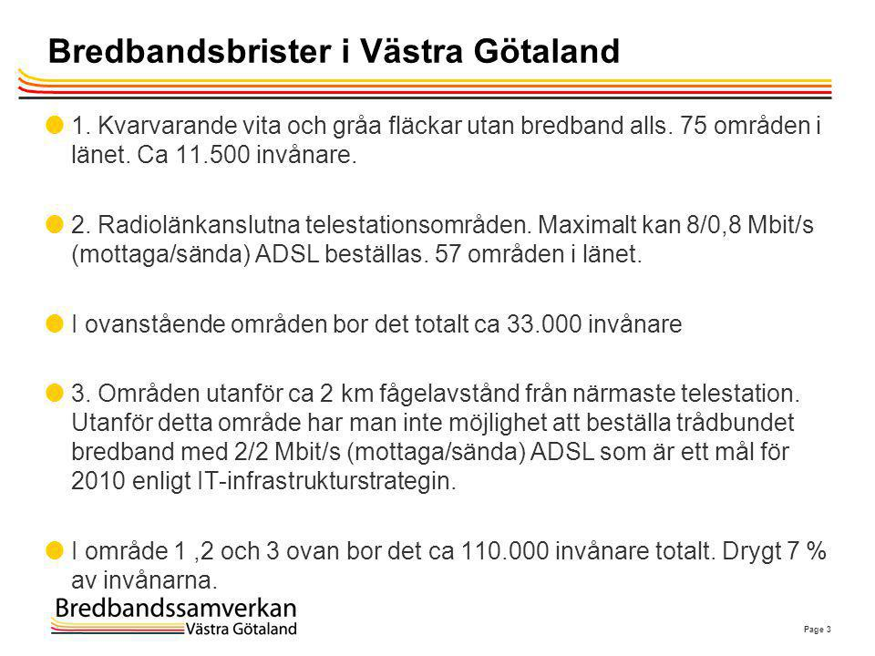 Bredbandsbrister i Västra Götaland