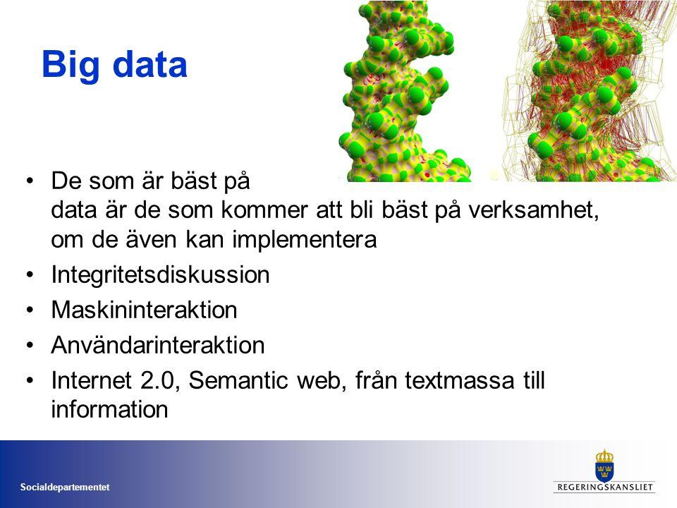 Big data De som är bäst på data är de som kommer att bli bäst på verksamhet, om de även kan implementera.