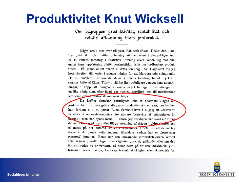 Produktivitet Knut Wicksell