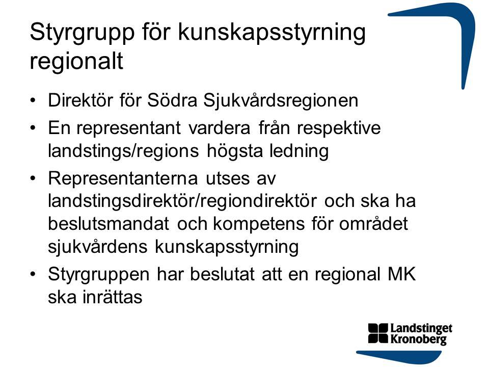 Styrgrupp för kunskapsstyrning regionalt