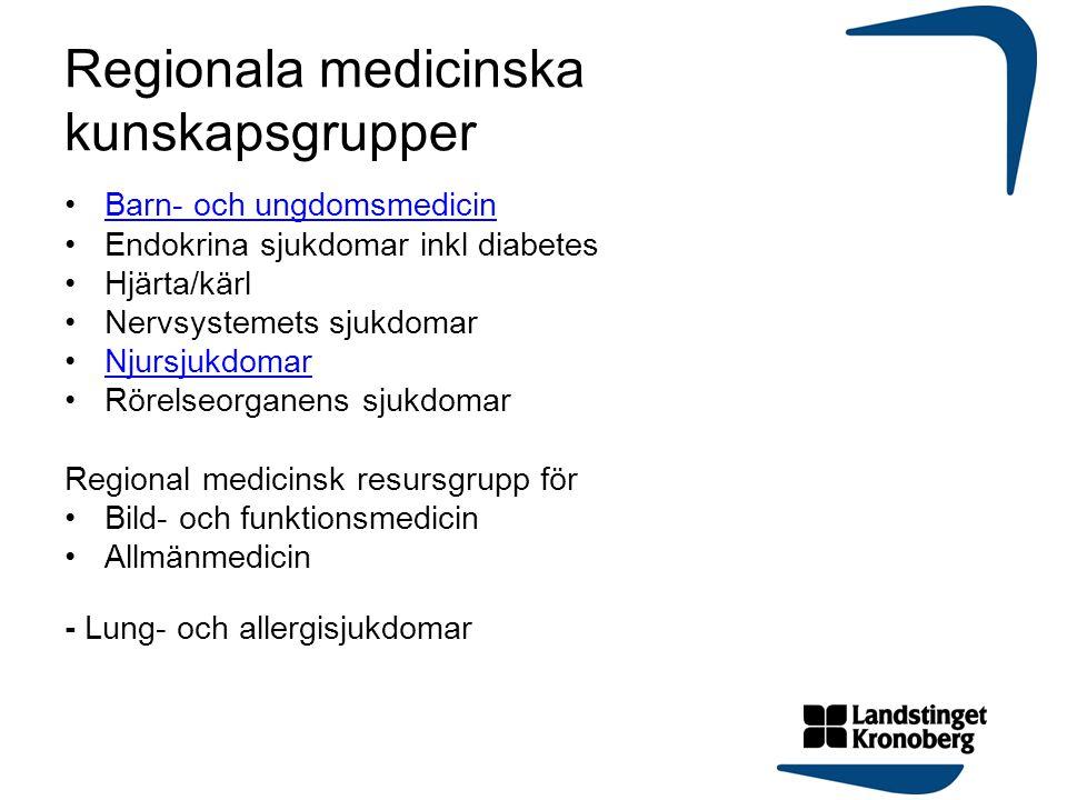 Regionala medicinska kunskapsgrupper
