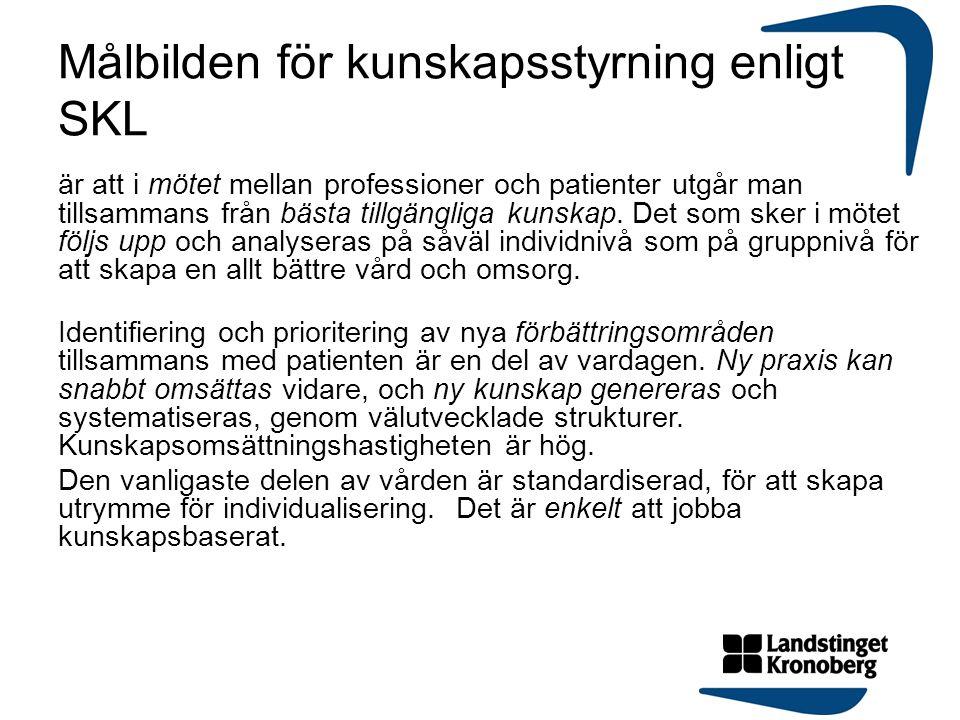 Målbilden för kunskapsstyrning enligt SKL