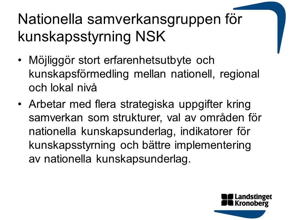 Nationella samverkansgruppen för kunskapsstyrning NSK