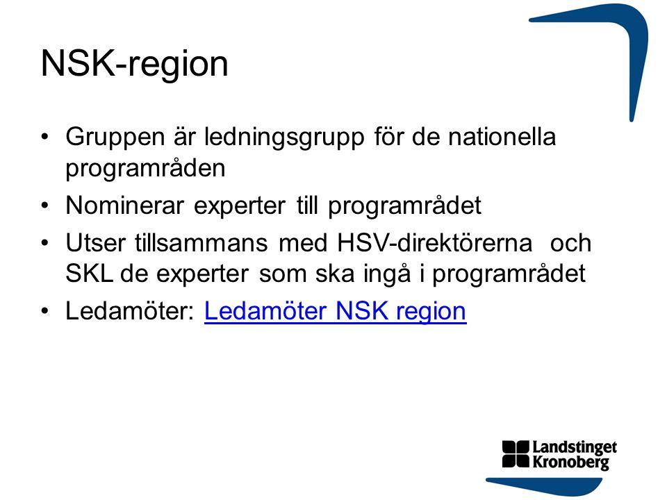 NSK-region Gruppen är ledningsgrupp för de nationella programråden