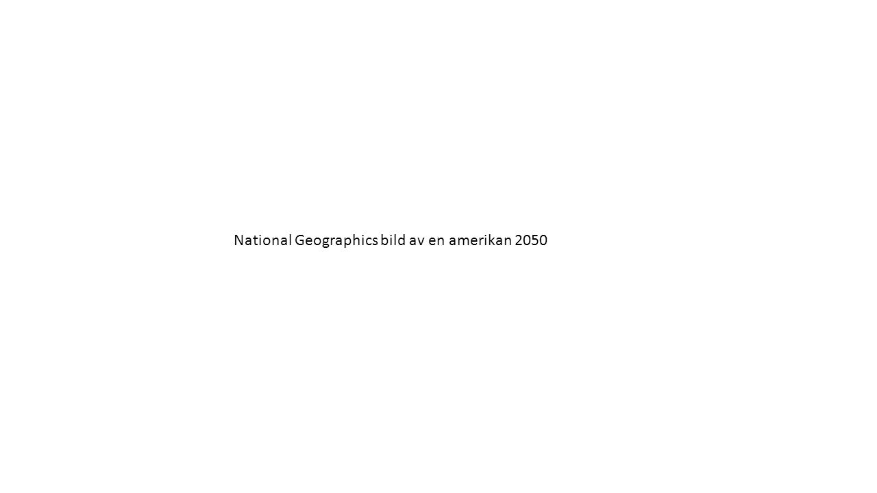 National Geographics bild av en amerikan 2050