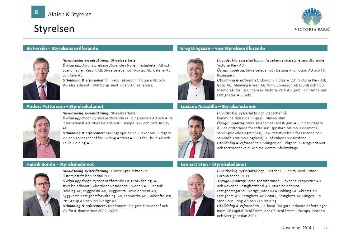 Styrelsen 6 Aktien & Styrelse Bo Forsén – Styrelsens ordförande