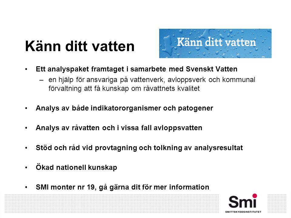 Känn ditt vatten Ett analyspaket framtaget i samarbete med Svenskt Vatten.