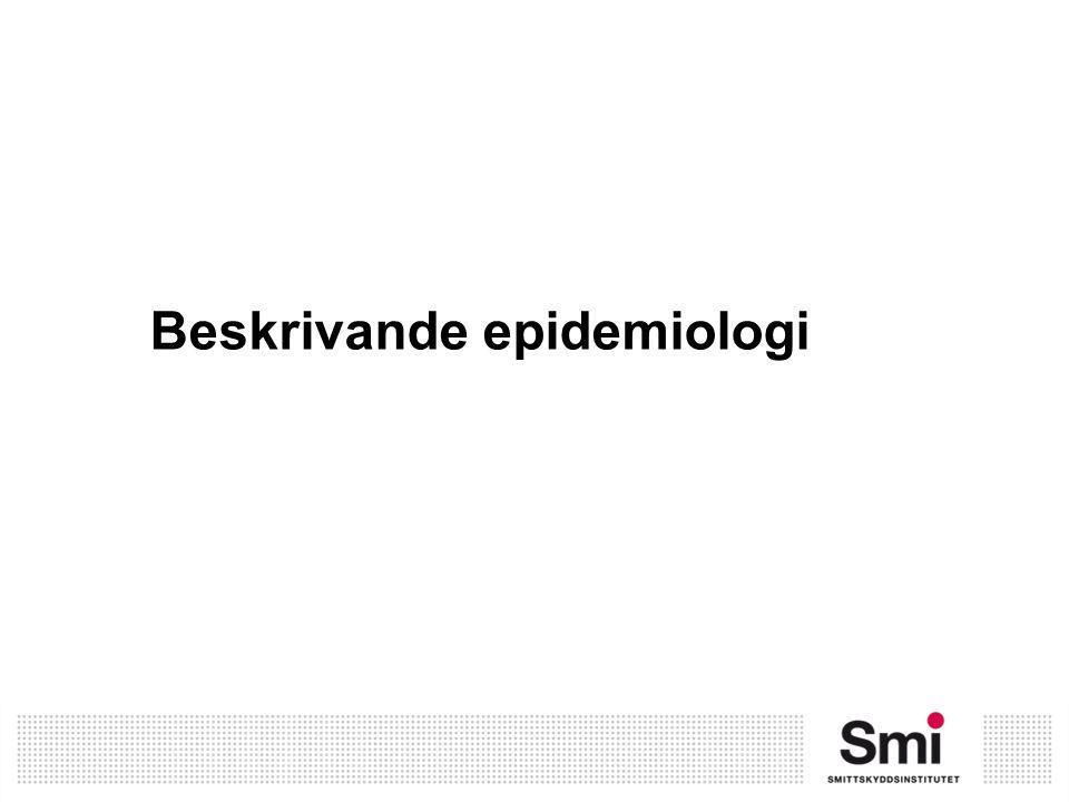 Beskrivande epidemiologi