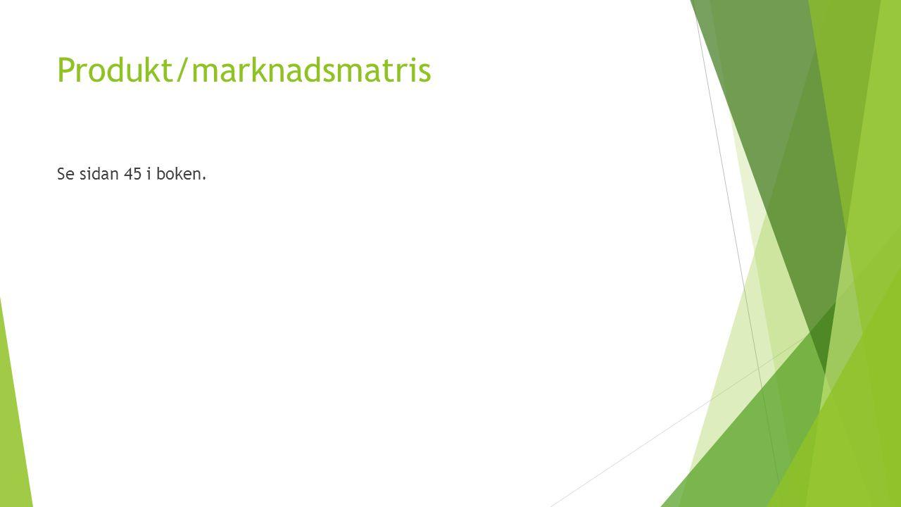 Produkt/marknadsmatris