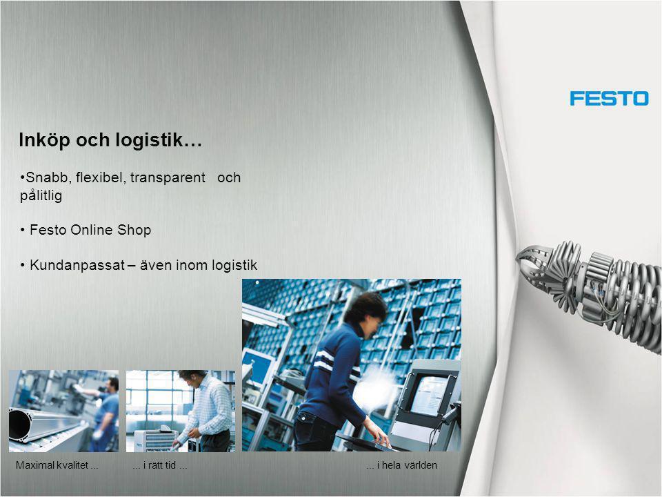 Inköp och logistik… Snabb, flexibel, transparent och pålitlig
