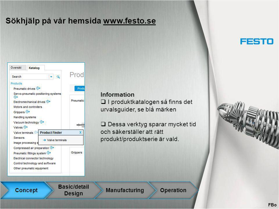 Sökhjälp på vår hemsida www.festo.se