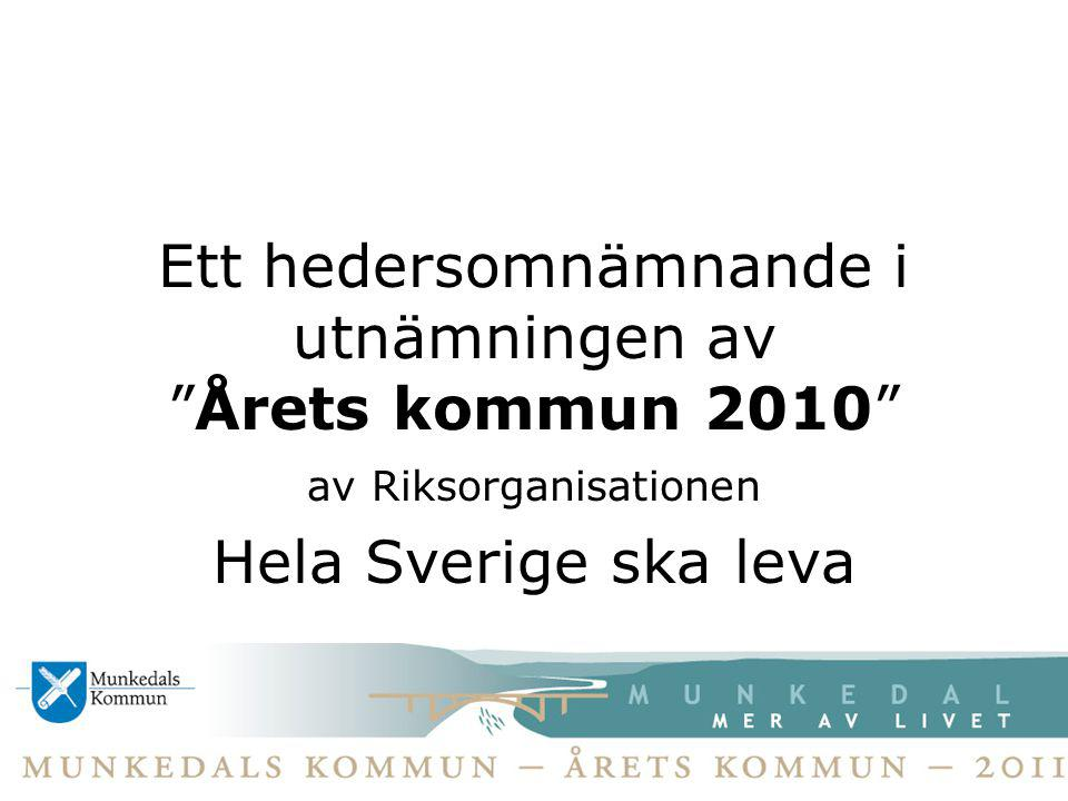 Ett hedersomnämnande i utnämningen av Årets kommun 2010