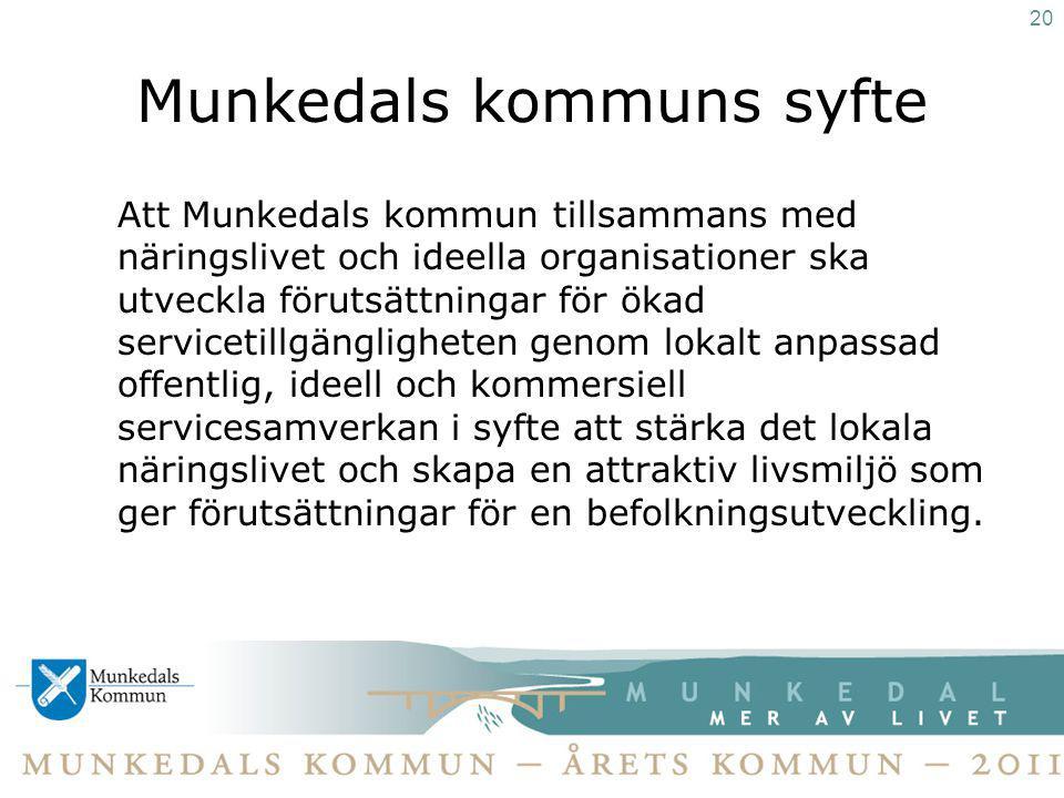 Munkedals kommuns syfte