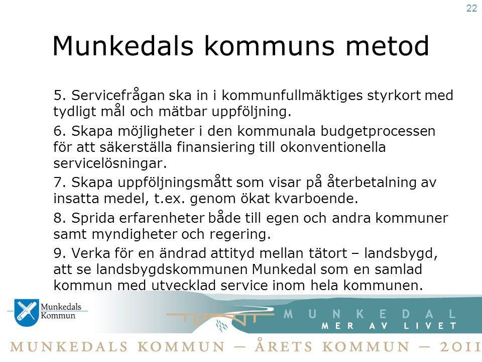 Munkedals kommuns metod