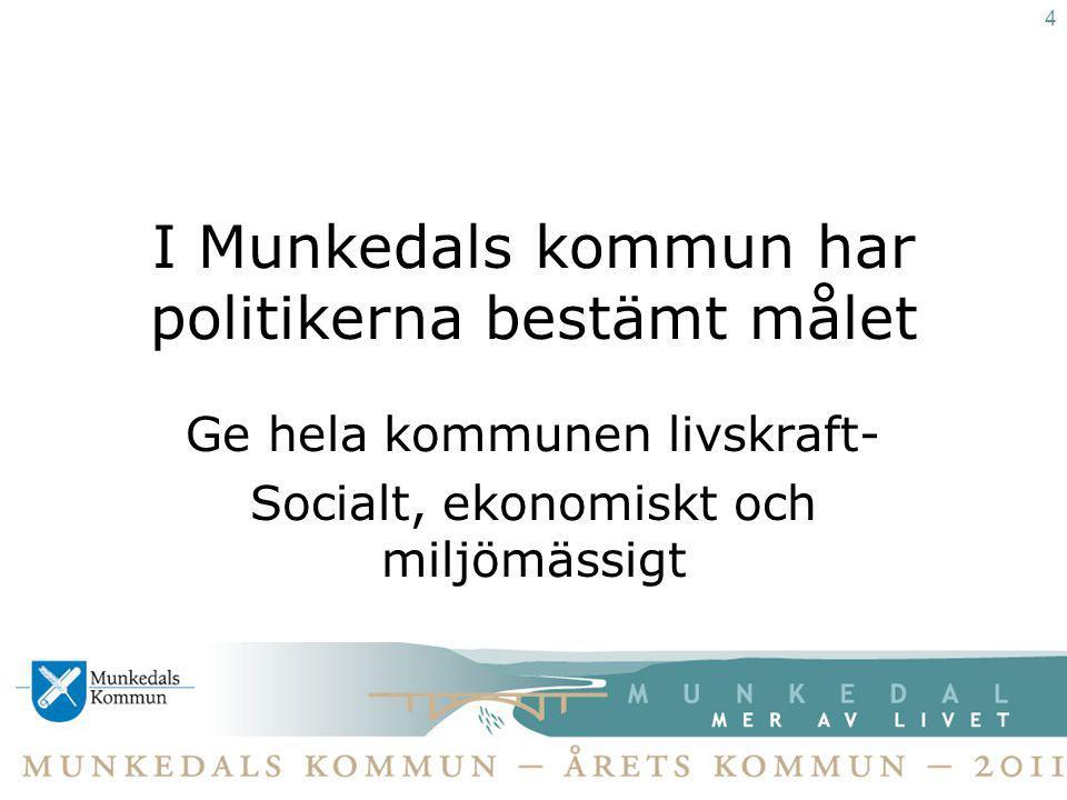 I Munkedals kommun har politikerna bestämt målet
